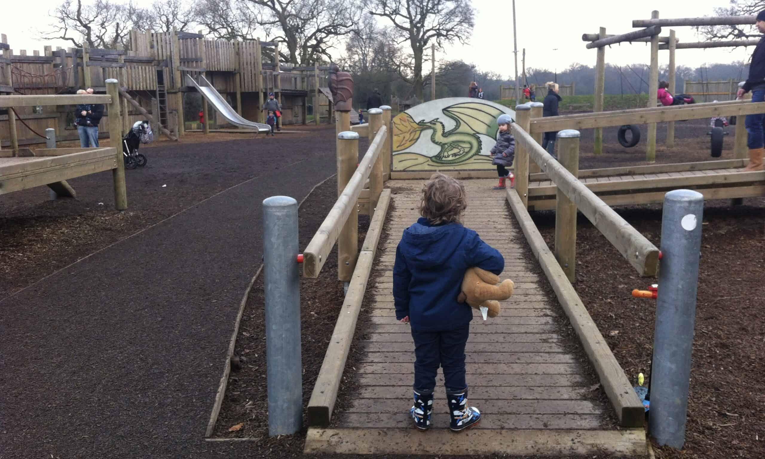 The adventure playground at Hylands Park Chelmsford