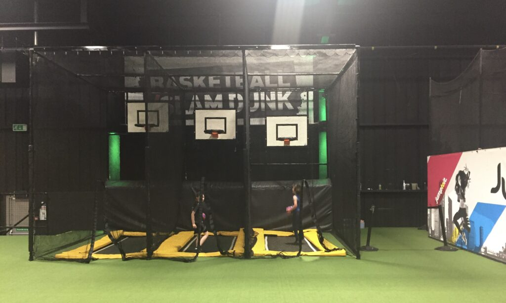 The Basket ball hoops at Jump Street Chelmsford