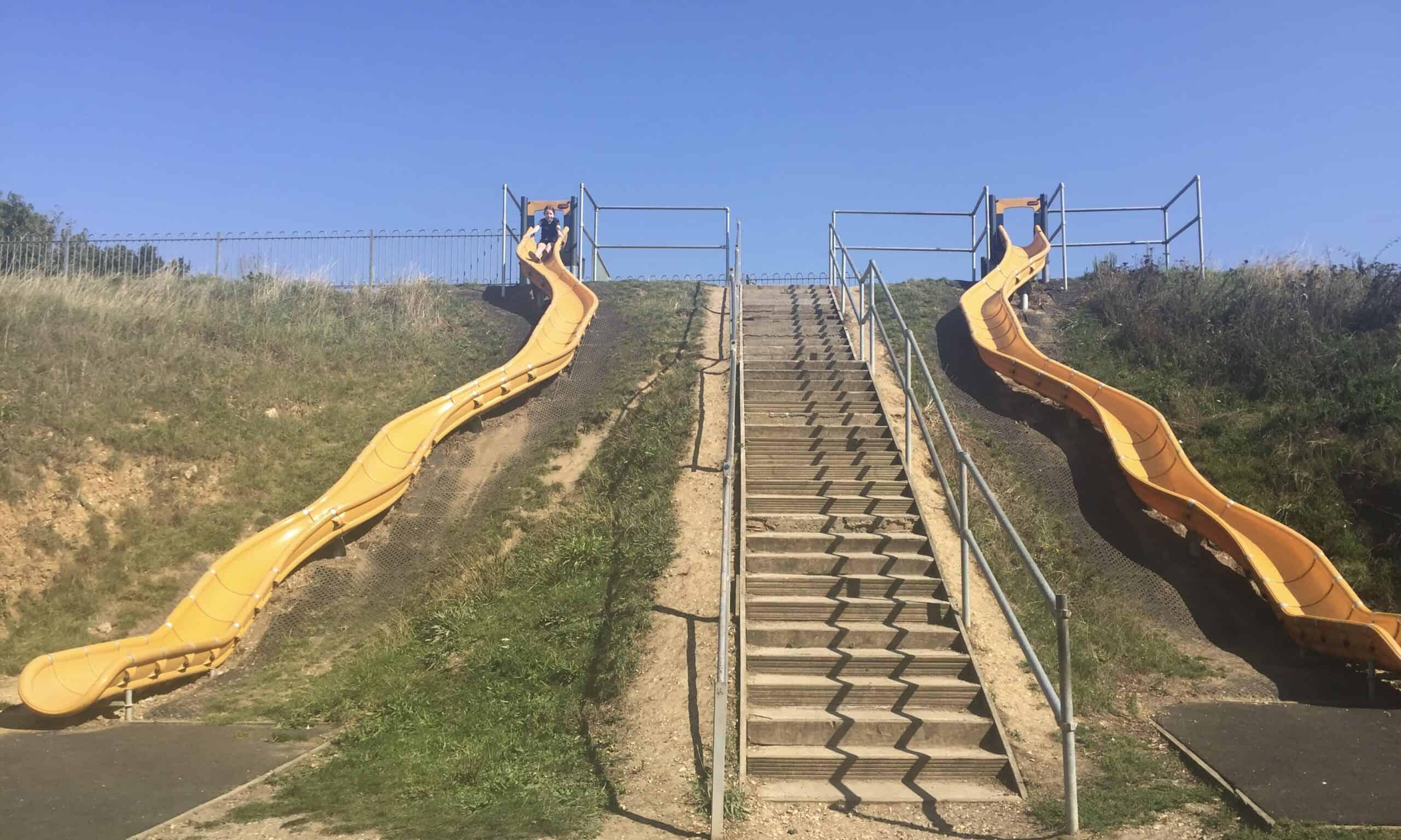 The giant slides at chelmer park