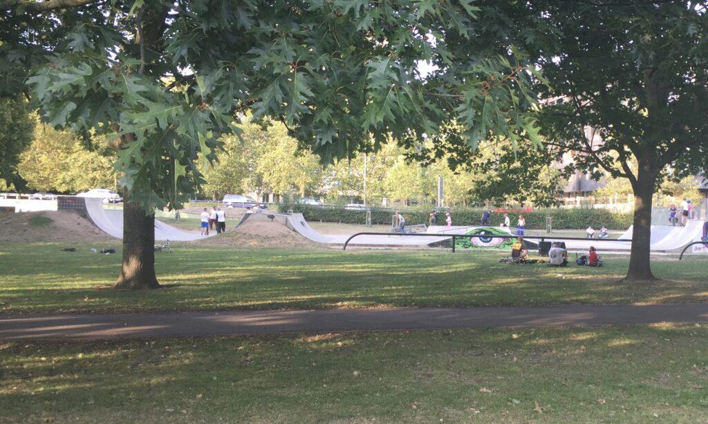 The skatepark at Central Park Chelmsford