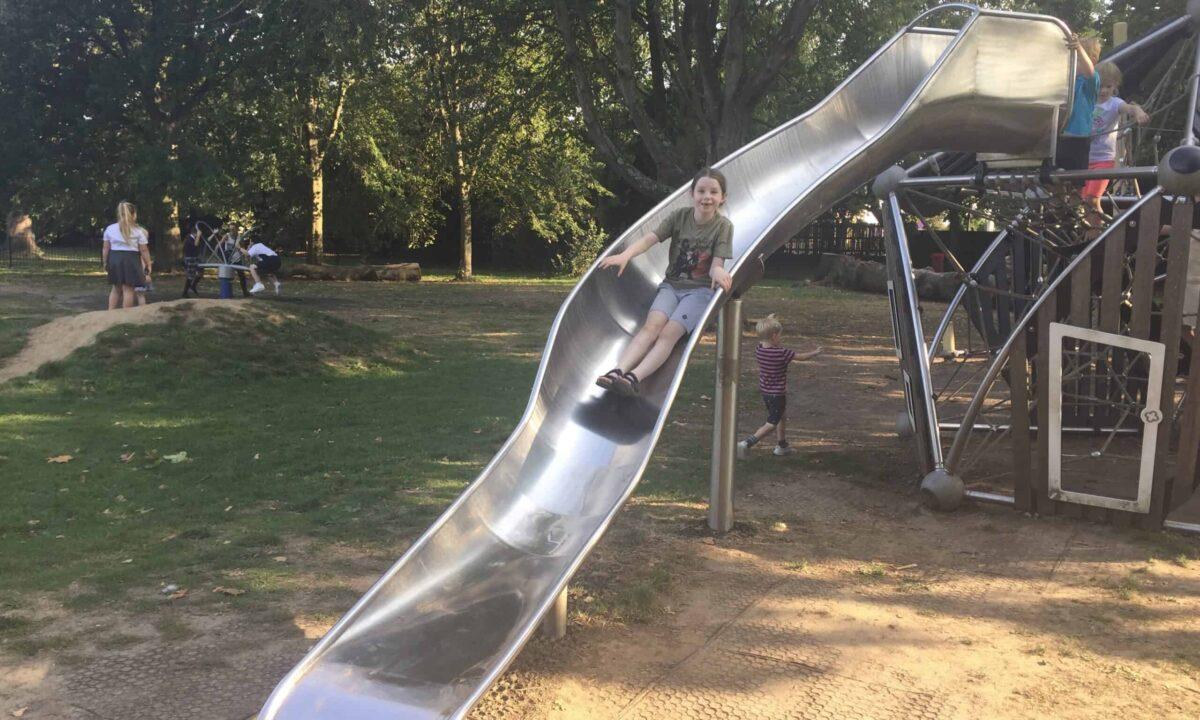 The slide at Oaklands Park