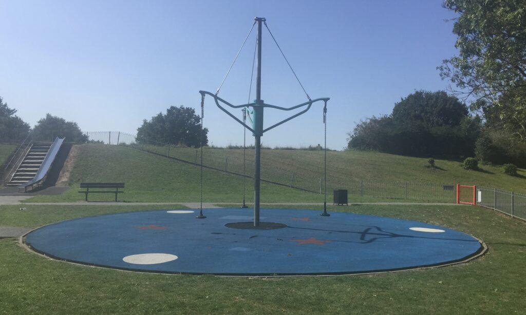 The spinning carousel at Chelmer Park