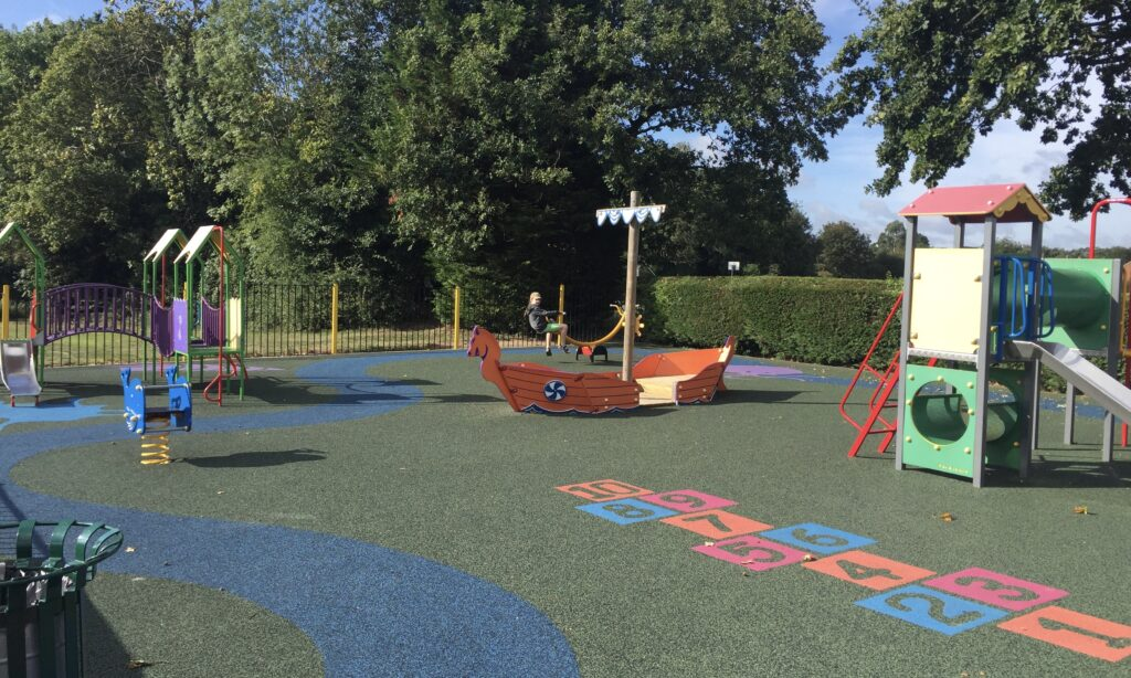 The toddler play area at Great Baddow recreation ground