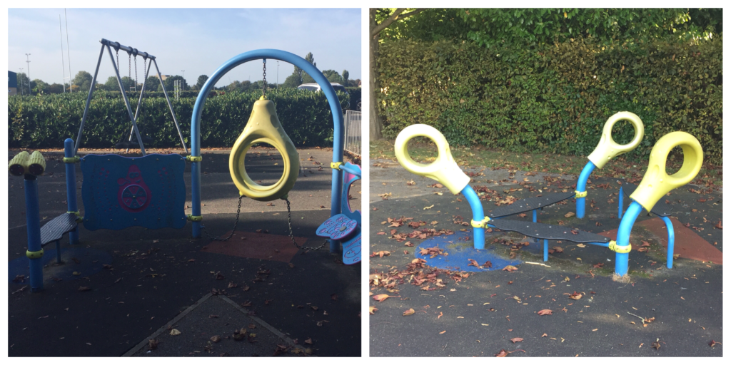 The Toddler play Equipment at Coronation Park Chelmsford