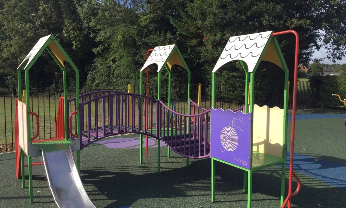 The toddler playground at great Baddow recreation ground