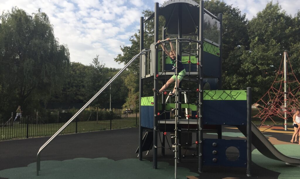 The tower play frame at Central Park