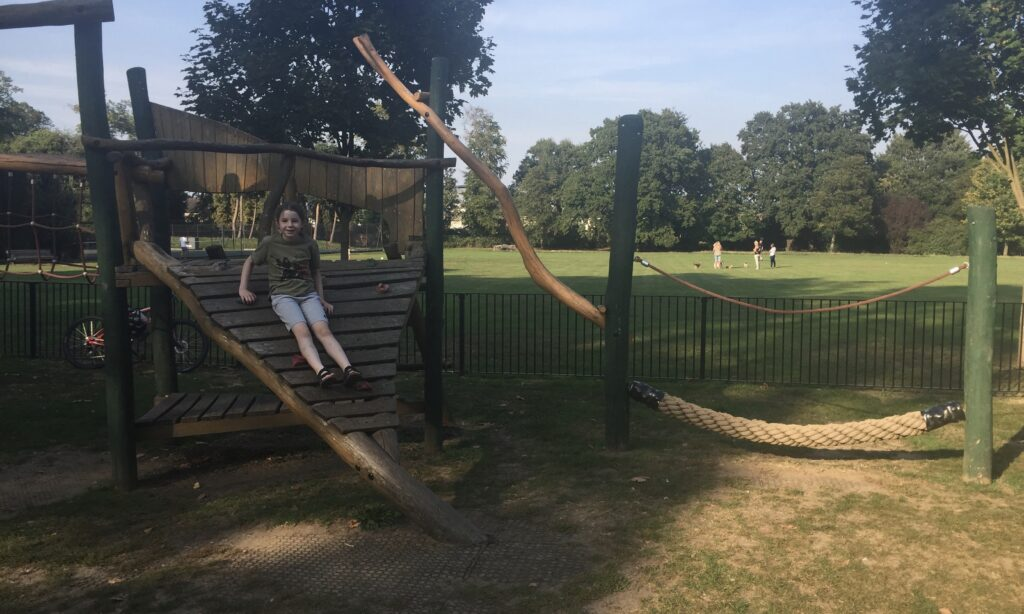 The wooden play frame at Oaklands Park in Chelmsford