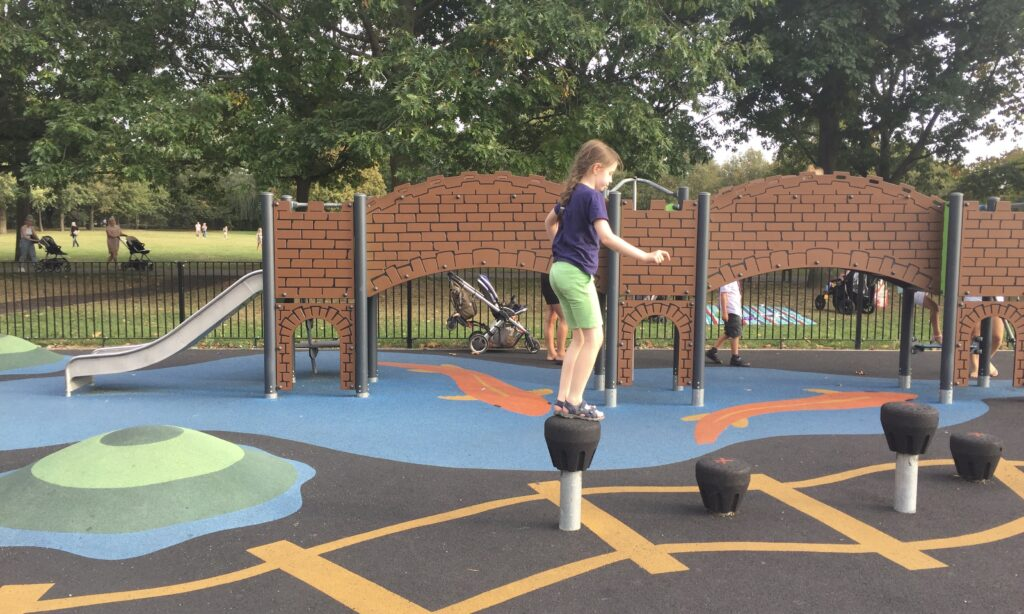 The younger children's play equipment at Central Park Chelmsford