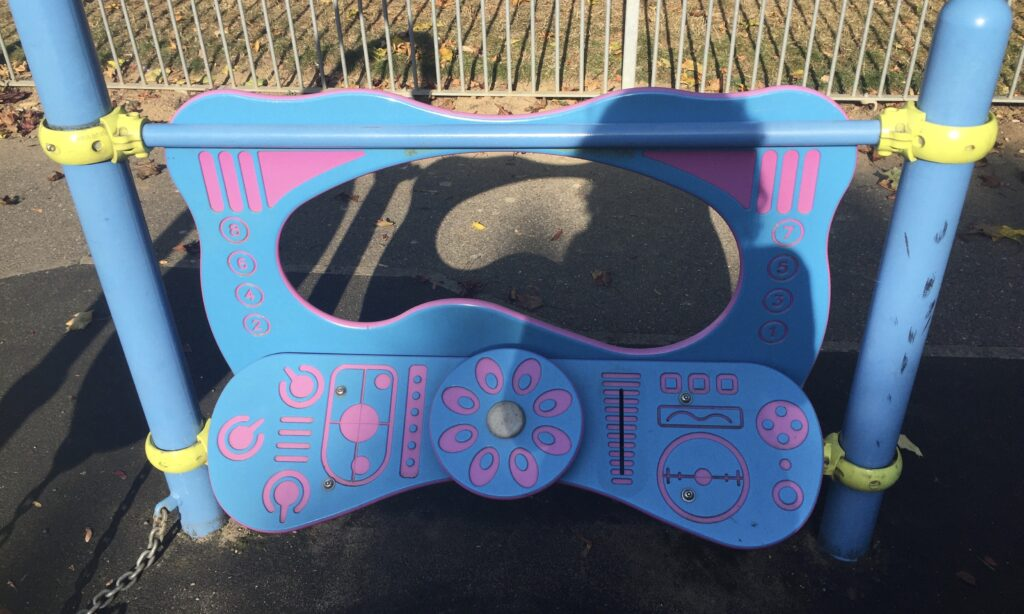 Toddler play kitchen at Coronation Park Chelmsford