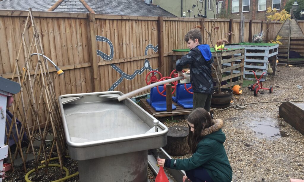 Water play at natural foundations