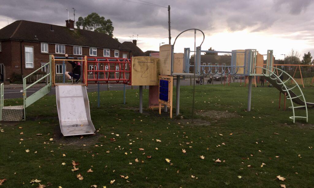 The older children's play frame at Melbourne Park Chelmsford
