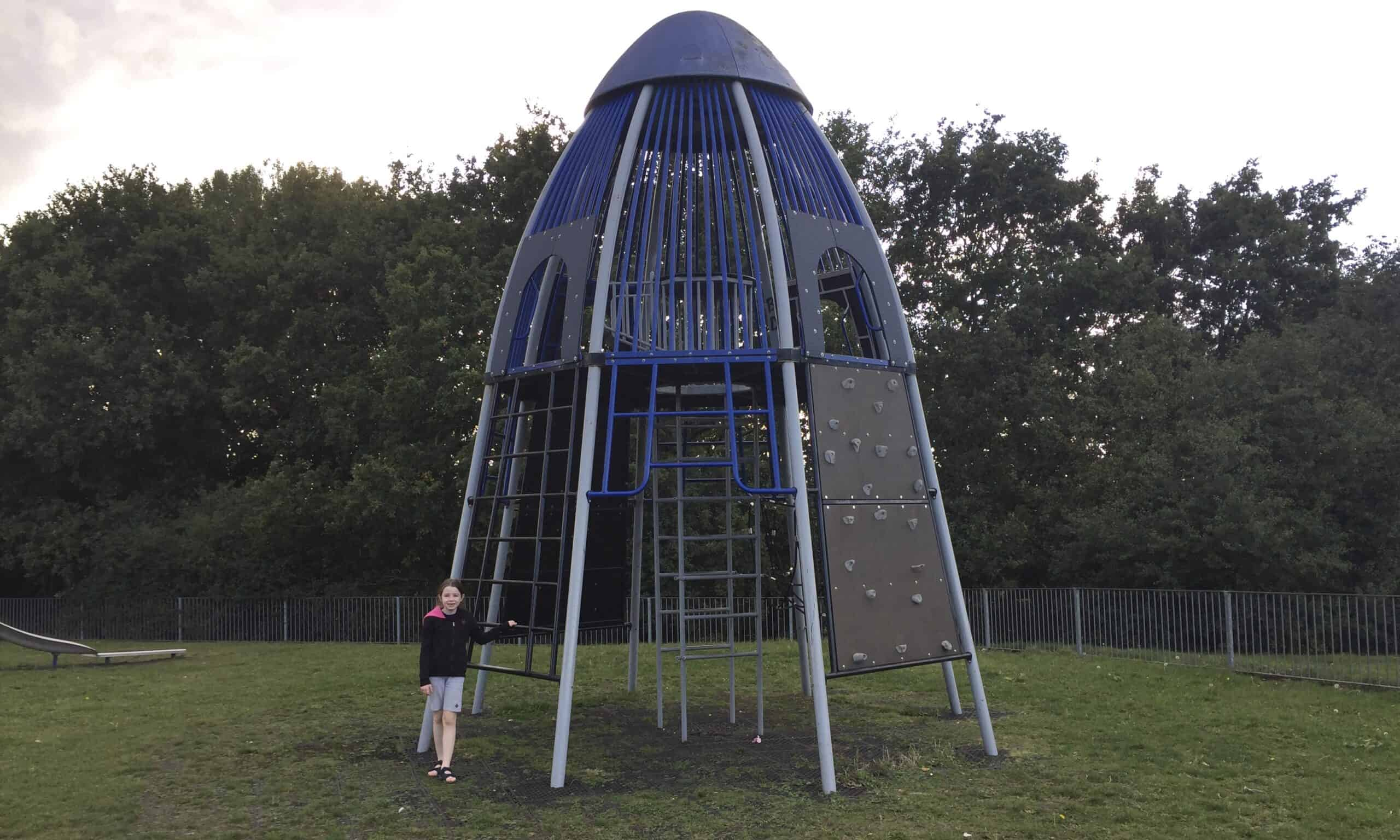 The climbing frame at Springfield Hall Park