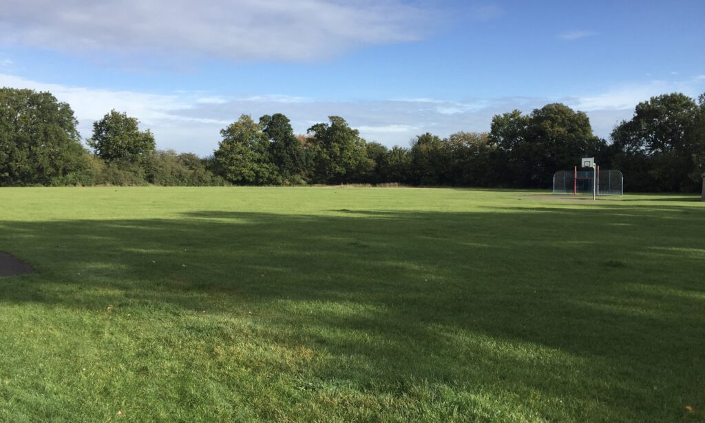 The grass area at Jubilee Park Galleywood