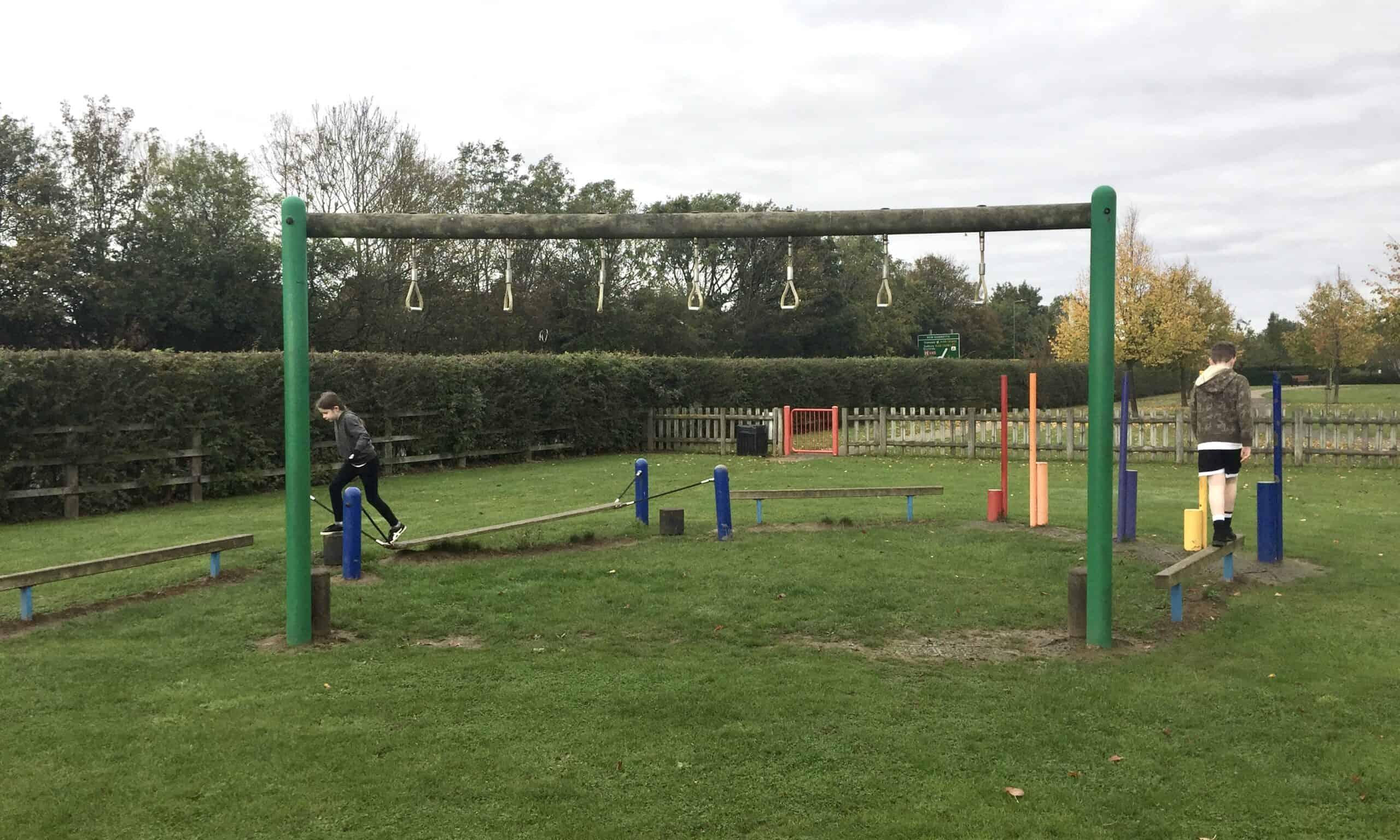 The obstacle area at Boleyn Gardens