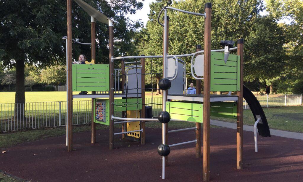 The older children's climbing frame at Lionmede Park