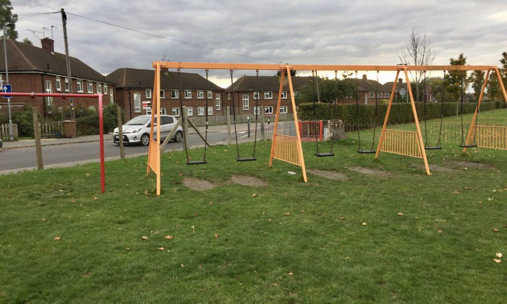 The older children's swings at Melbourne Park