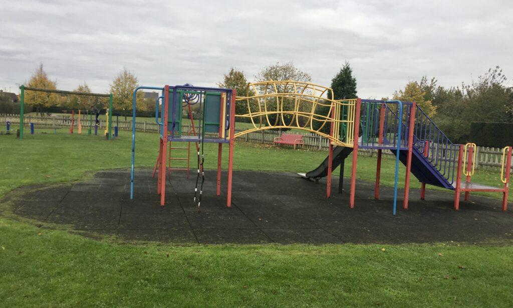 The play frame for older children at Boleyn gardens Chelmsford