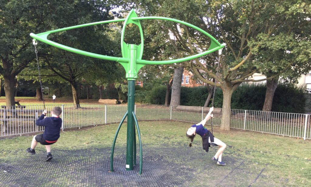 The rotating swing at Lionmede Park