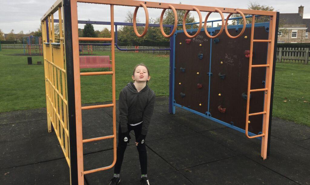 The toddler climbing frame at Boleyn gardens Chelmsford