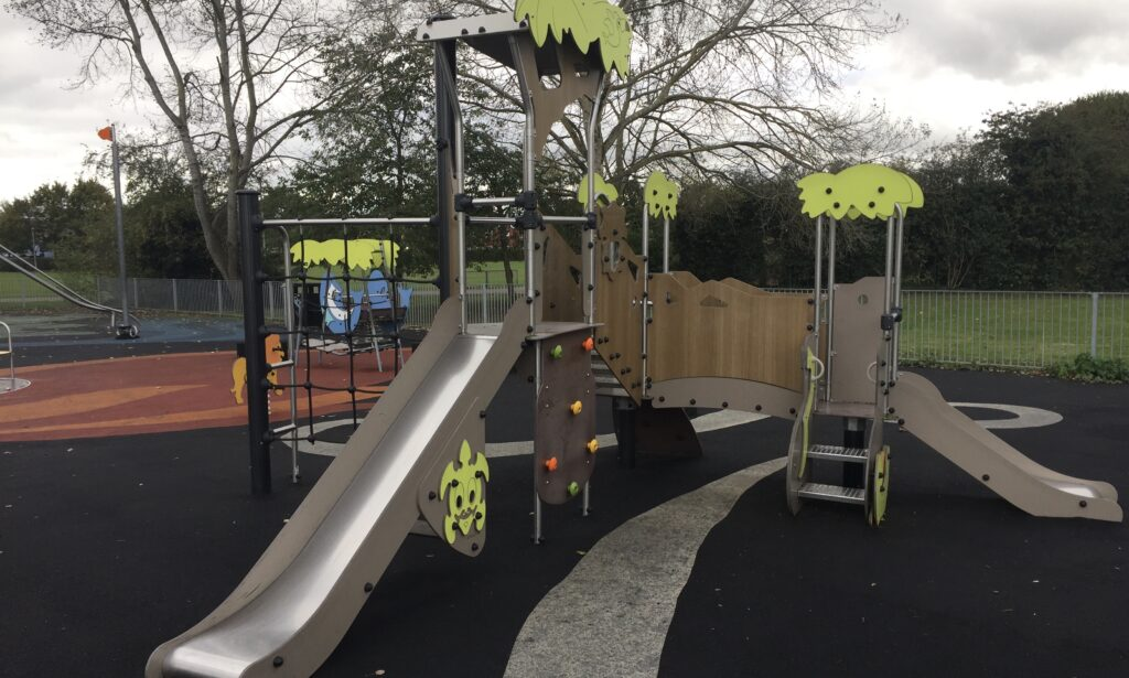 The toddler play frame Chelmer Village Green Playground