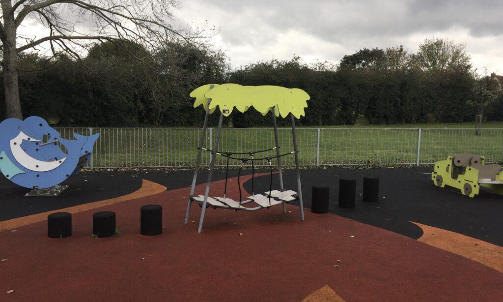 Toddler equipment at Chelmer Village Playground