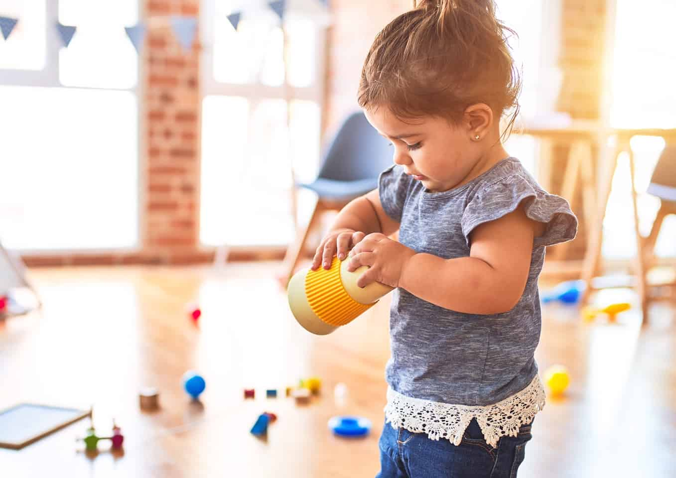 Child at a nursery playing