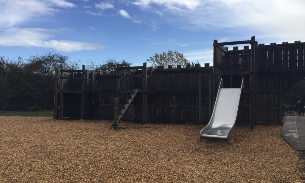 The climbing frame at Hylands Park playground