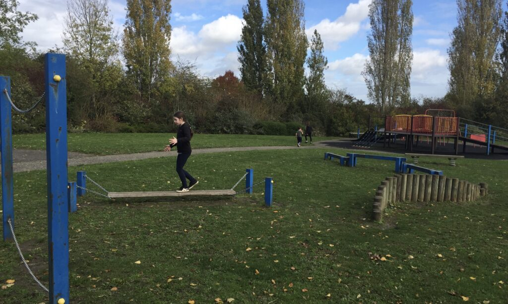 The obstacle course at Brook End Gardens Chelmsford