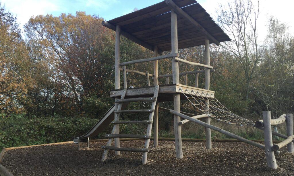 The older children's climbing frame at waterside park hanningfield