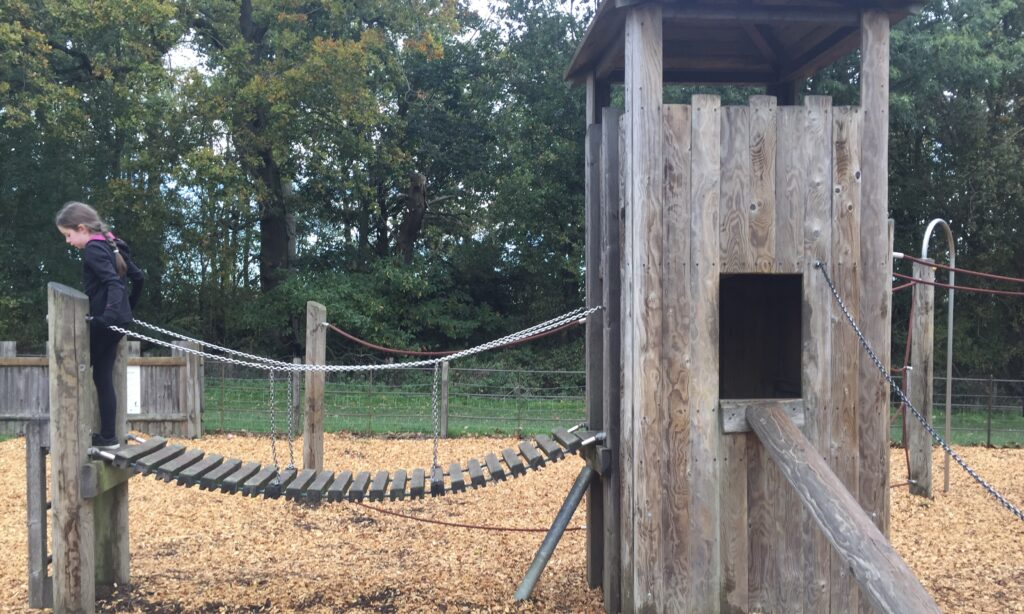 The Toddler climbing tower at Hylands Park playground