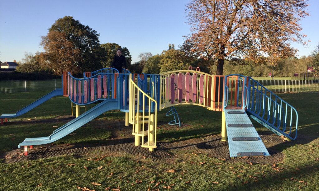 The toddler play frame at Baddow Hall Park