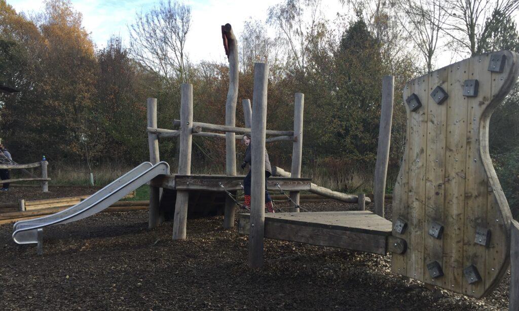 The younger children's climbing frame at hanningfield reservoir