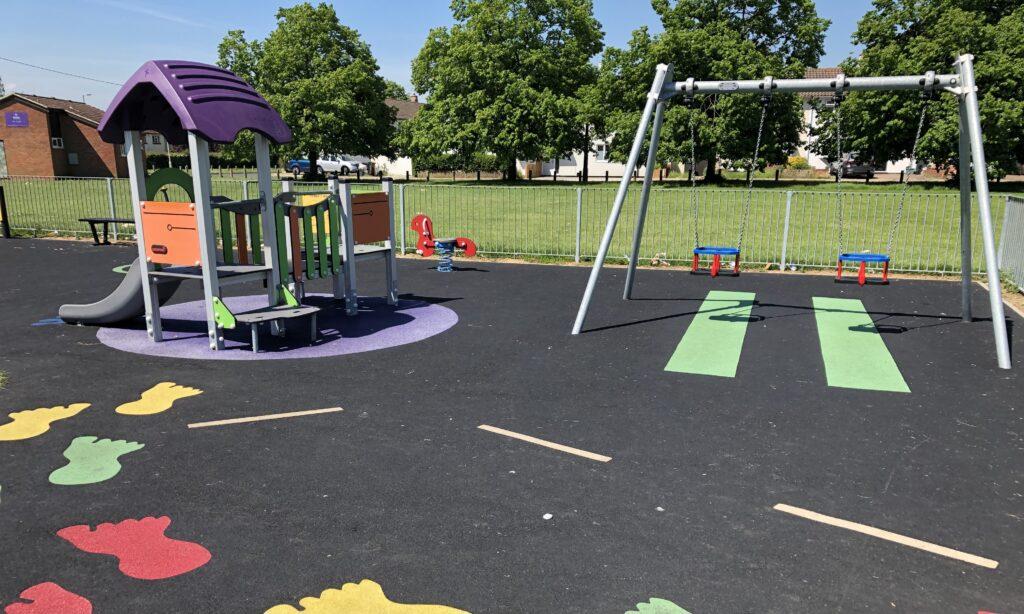 Toddler play area at Savernake park