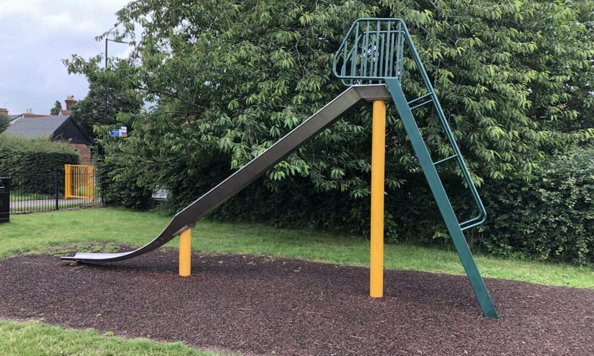 Big slide at Danbury Park