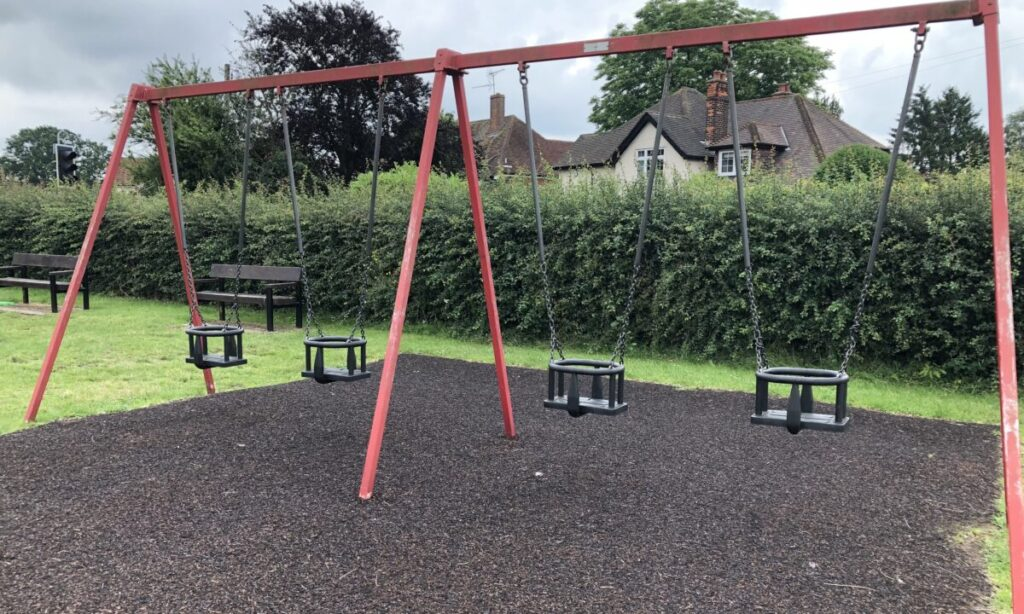 Baby swings at Danbury playground