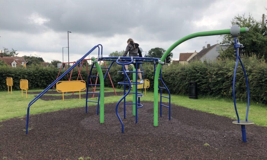 Older children's Climbing frame at the playground in Mayes Lane Danbury