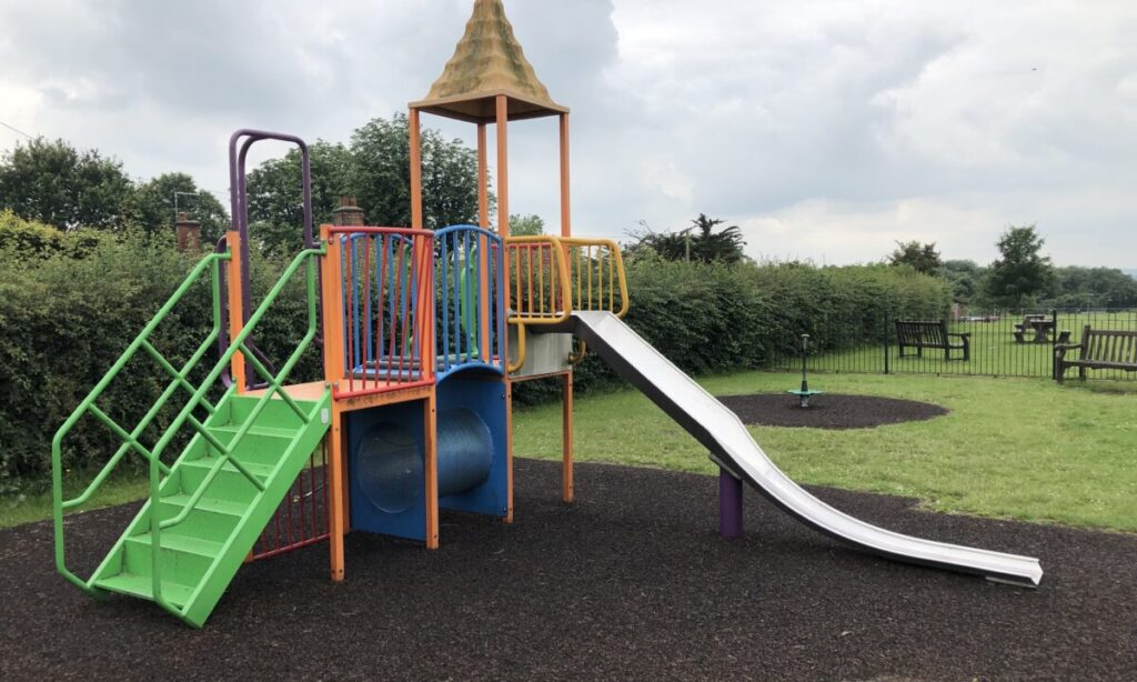 The younger children's Climbing frame at the playground in Mayes Lane Danbury